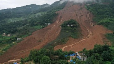 Landslide in China buries 21 houses: At least 36 people reported dead
