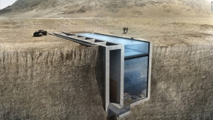 Amazing Concept House Being Built into a Cliff in Lebanon