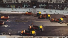 Paving a road in Russia in no time (video)