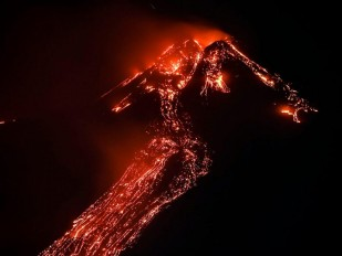 Mount Etna in Italy erupts again: Stunning footage recorded