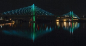 Portland Bridge Tests Ambient Lighting System