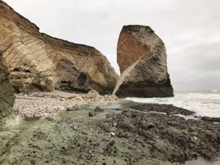 Stunning sea stack failure in Isle of Wight, UK
