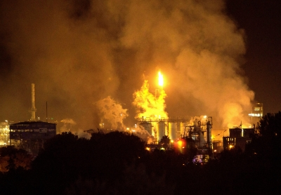 Chemical plant blast in Spain
