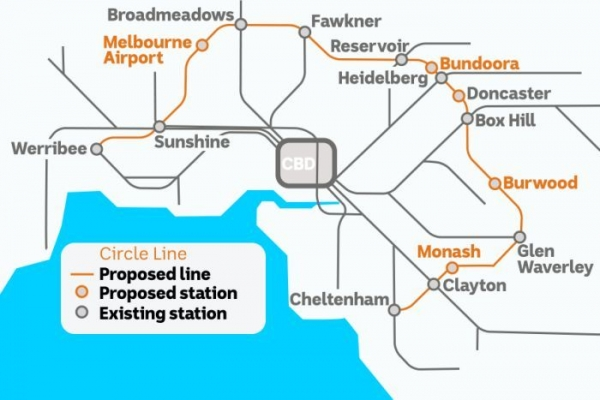$36 billion railway plan for Melbourne