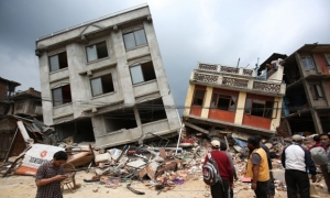 Previously Damaged Structures Collapse after Second Quake hits Nepal