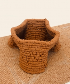 3D print structures using local soil